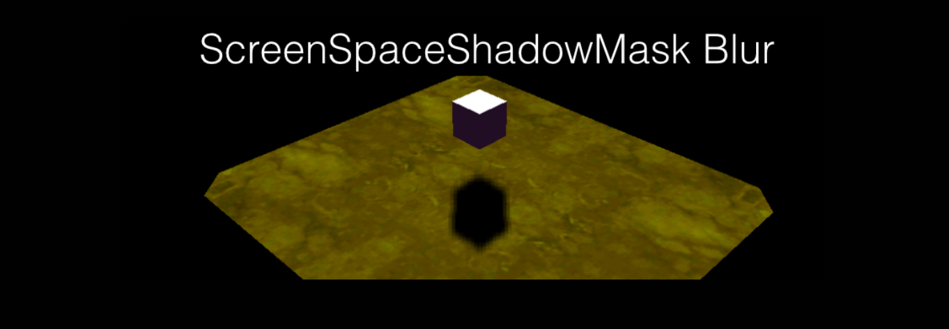 ScreenSpaceShadowMask Blur推荐