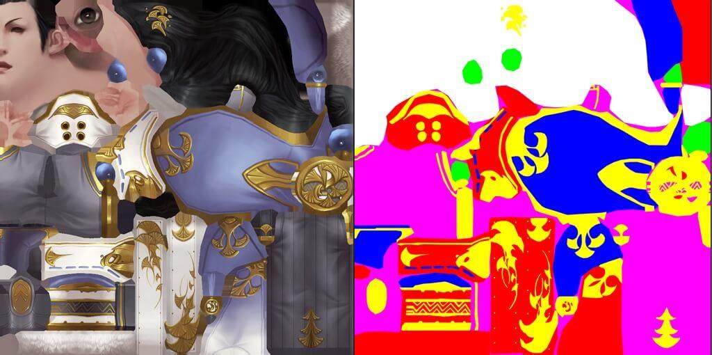 角色的染色Mask贴图示例
